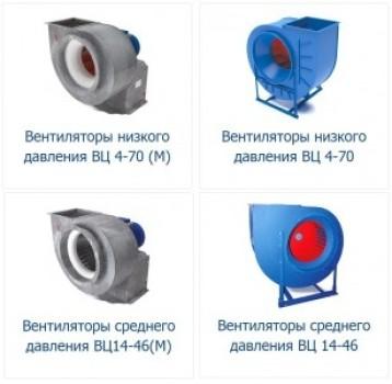Вентиляторы радиальные (центробежные) ВЦ